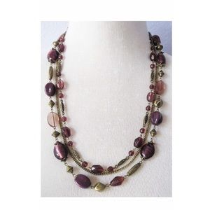 NWT Premier Designs Purple Iris Necklace